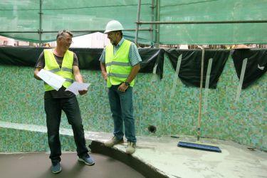 Besprechung mit Bauleitung